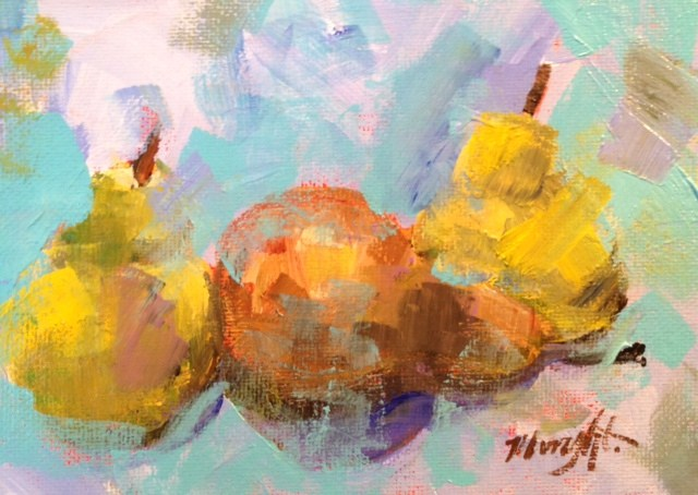 """Little Pears"" original fine art by Molly Wright"