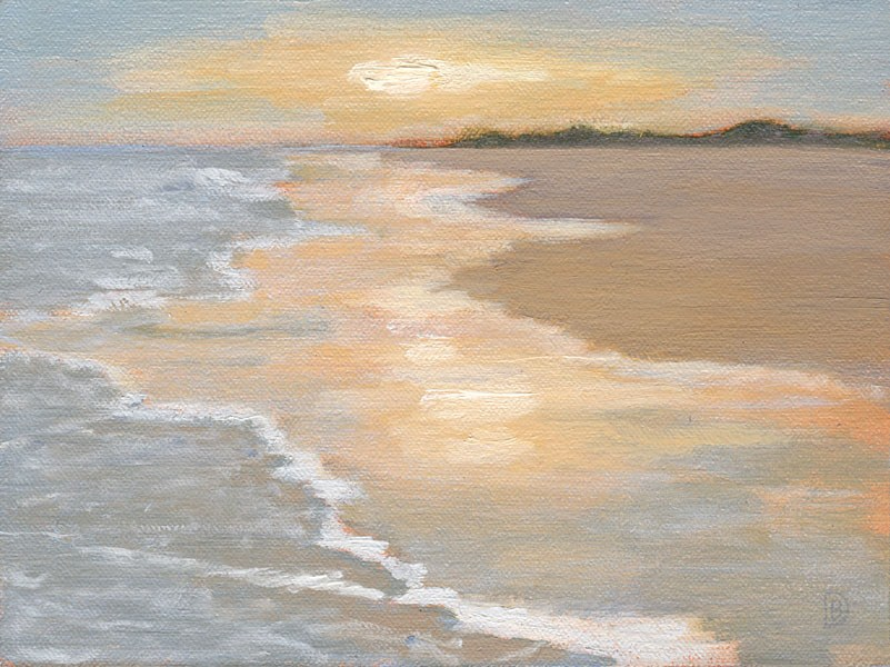 """On the Beach"" original fine art by Brie Dodson"