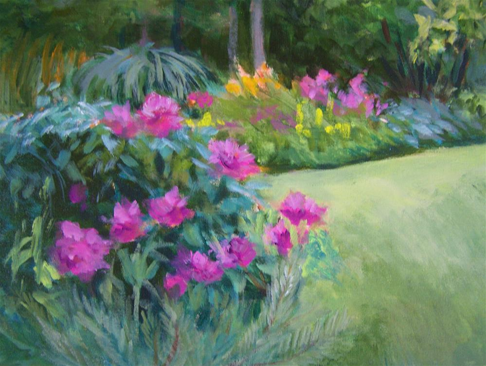 """Jan's Garden #3"" original fine art by Joan Reive"