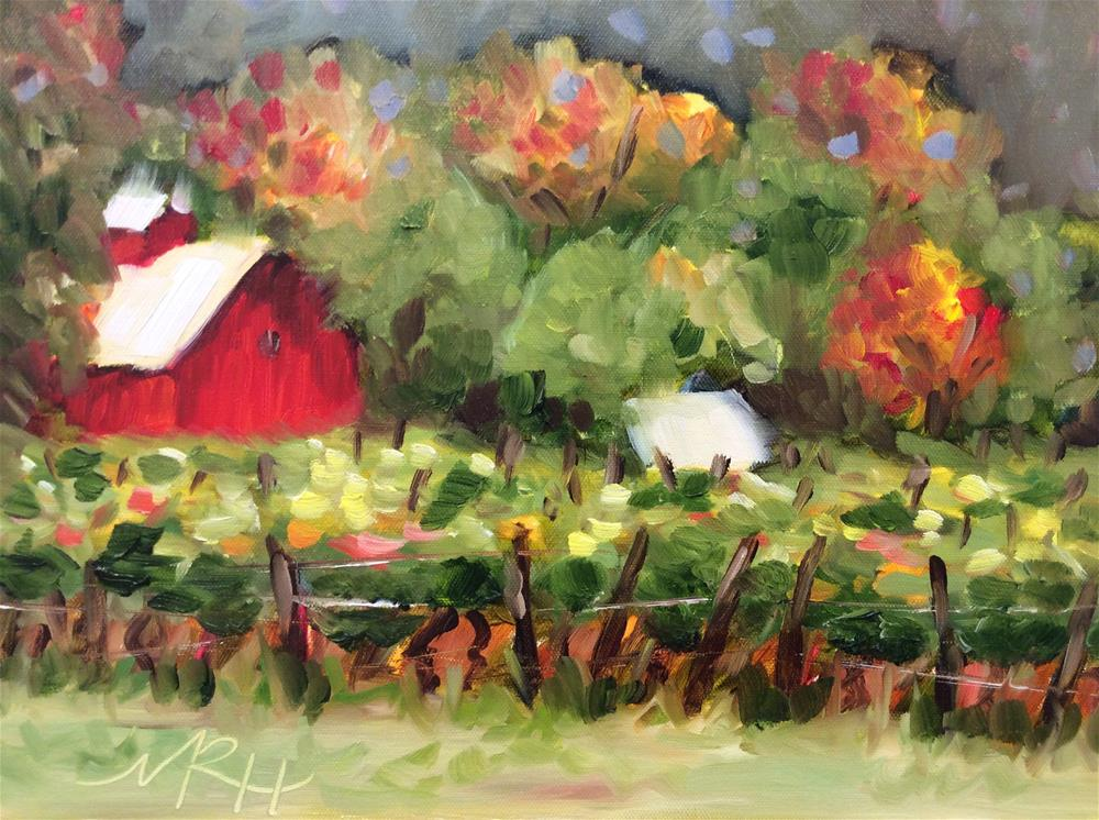 """Saginaw Michigan Vineyard"" original fine art by Molly Rohrscheib Hathaway"