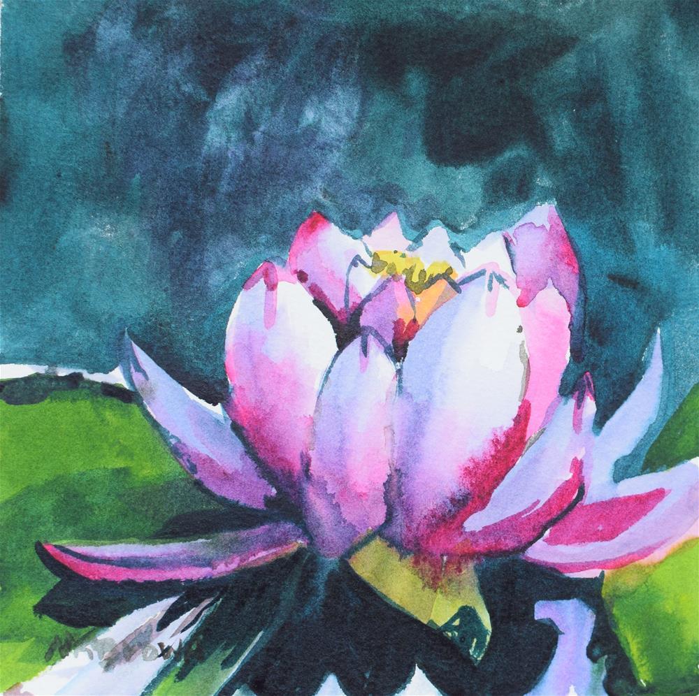 """Water Lilies"" original fine art by Nancy Brown"