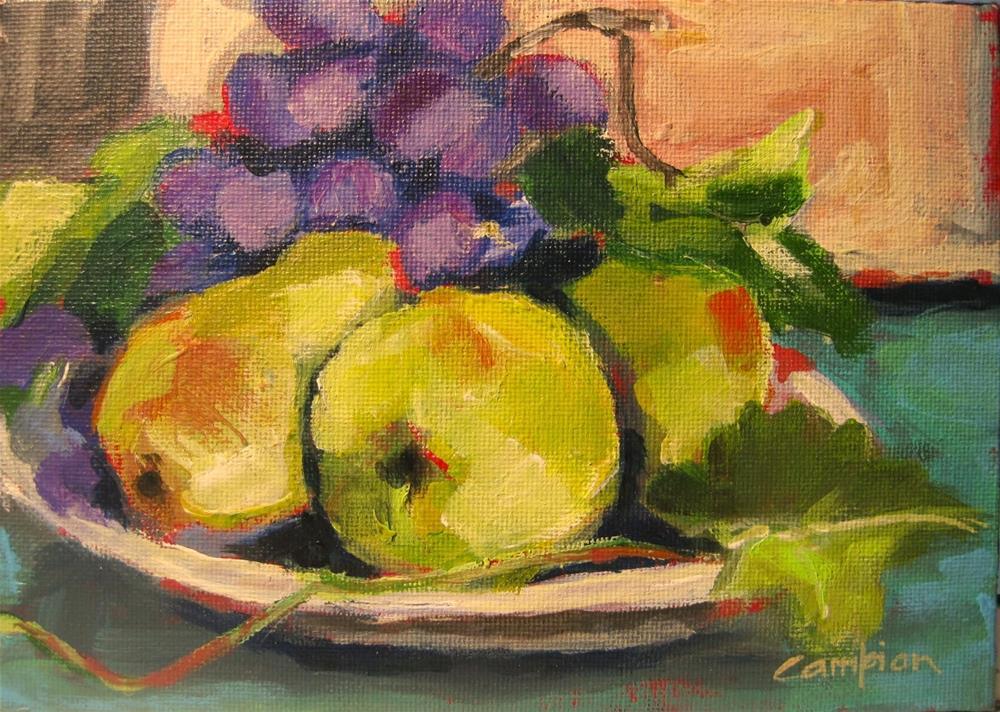 """318. Freshly Picked"" original fine art by Diane Campion"