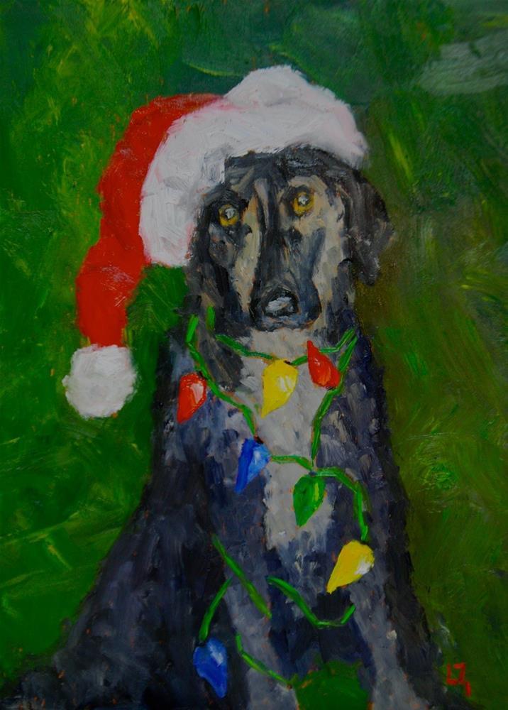 """Waiting for Santa"" original fine art by Liz Zornes"