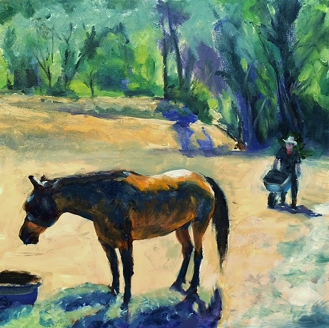 """Waiting for Good Oats"" original fine art by John Tullis"