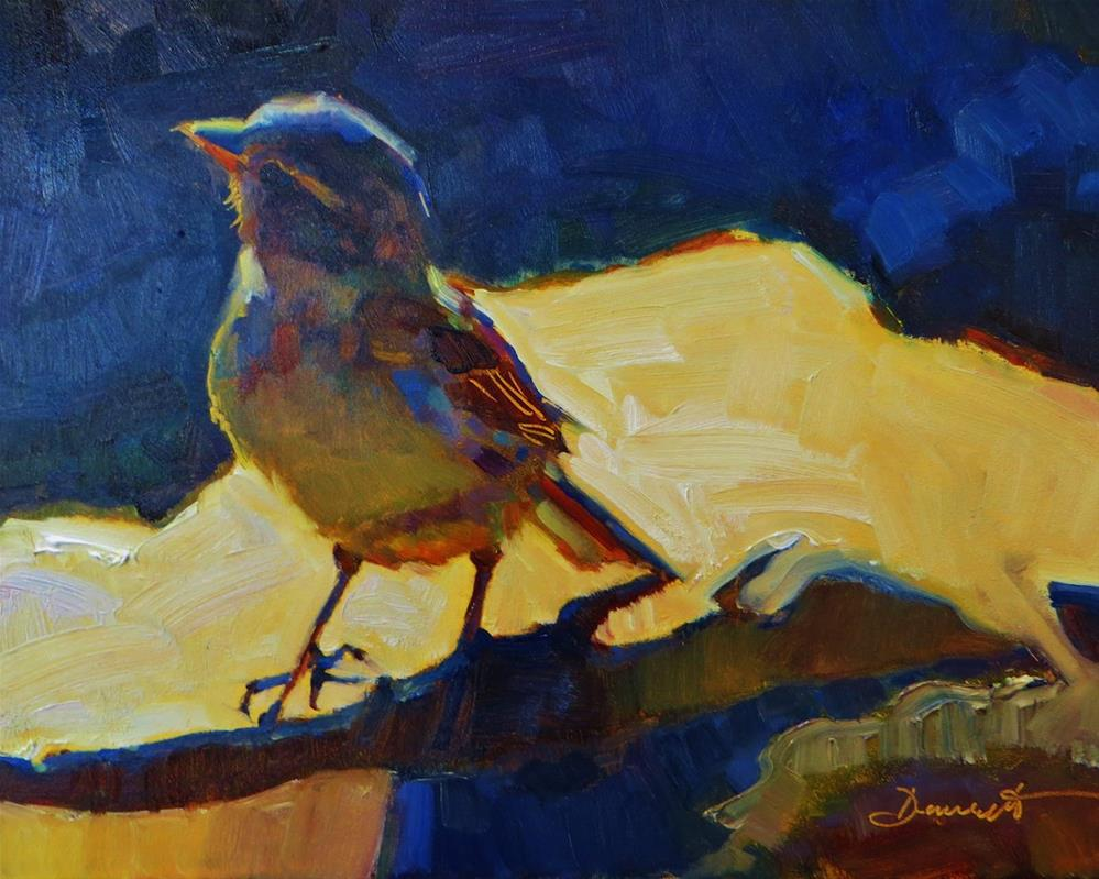 """Blue River Bird"" original fine art by Scarlet Owl Studio"