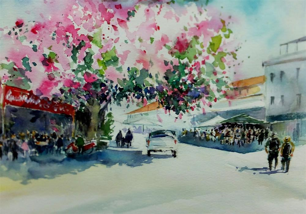 """Gulluk, Turkey"" original fine art by Midori Yoshino"