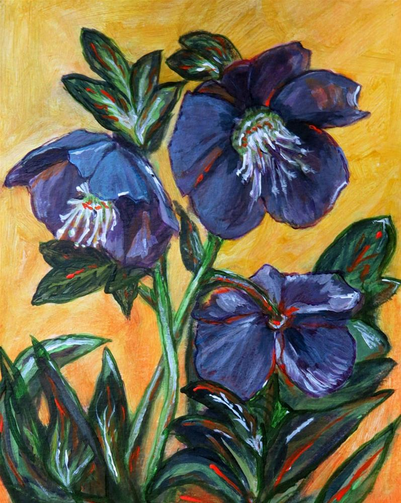 """""""Christmas Roses"""" original fine art by Susan  Mackenzie"""