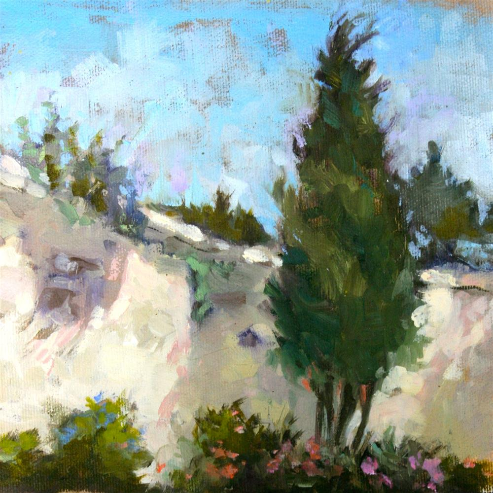 """Provence - Ancient Wall"" original fine art by Jane Robertson"