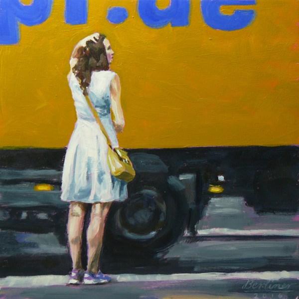 """""""071 Die Frau und der Umzugswagen"""" original fine art by Anja Berliner"""