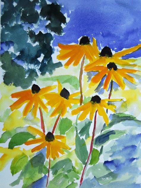 """Garden Painting 1"" original fine art by Donna Crosby"