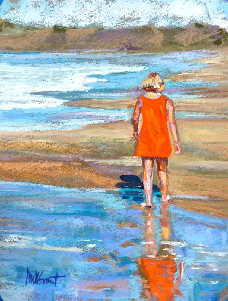 """Orange Sundress"" original fine art by Michelle Wells Grant"