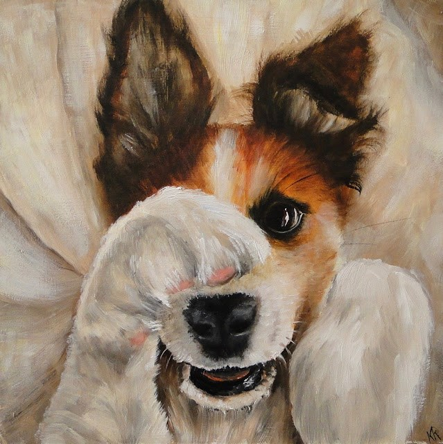"""Peek-a-boo"" original fine art by Karen Robinson"