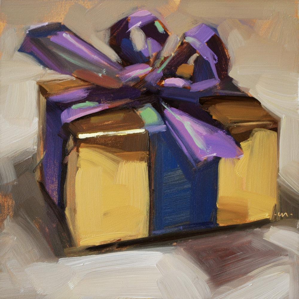 """""""For Me?"""" original fine art by Carol Marine"""