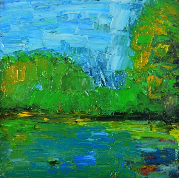 """Oil Landscape Painting No 4"" original fine art by Katie Jeanne Wood"