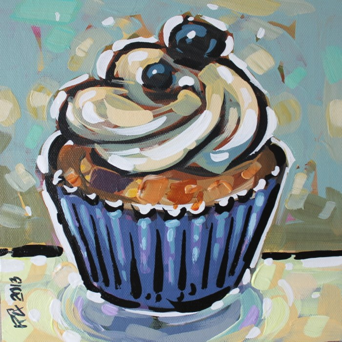 """Cupcake 22"" original fine art by Roger Akesson"