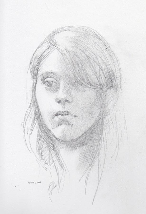 TAYLOR (SOLD) pencil portrait drawing original fine art by Barbara Fox
