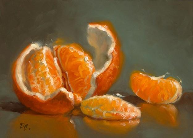 """Opened Up #3-Orange"" original fine art by David Capalungan"