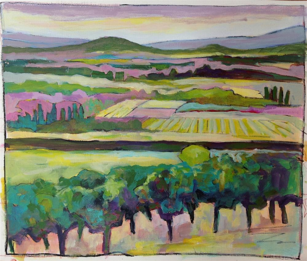"""Joucas Vineyard"" original fine art by Patricia MacDonald"