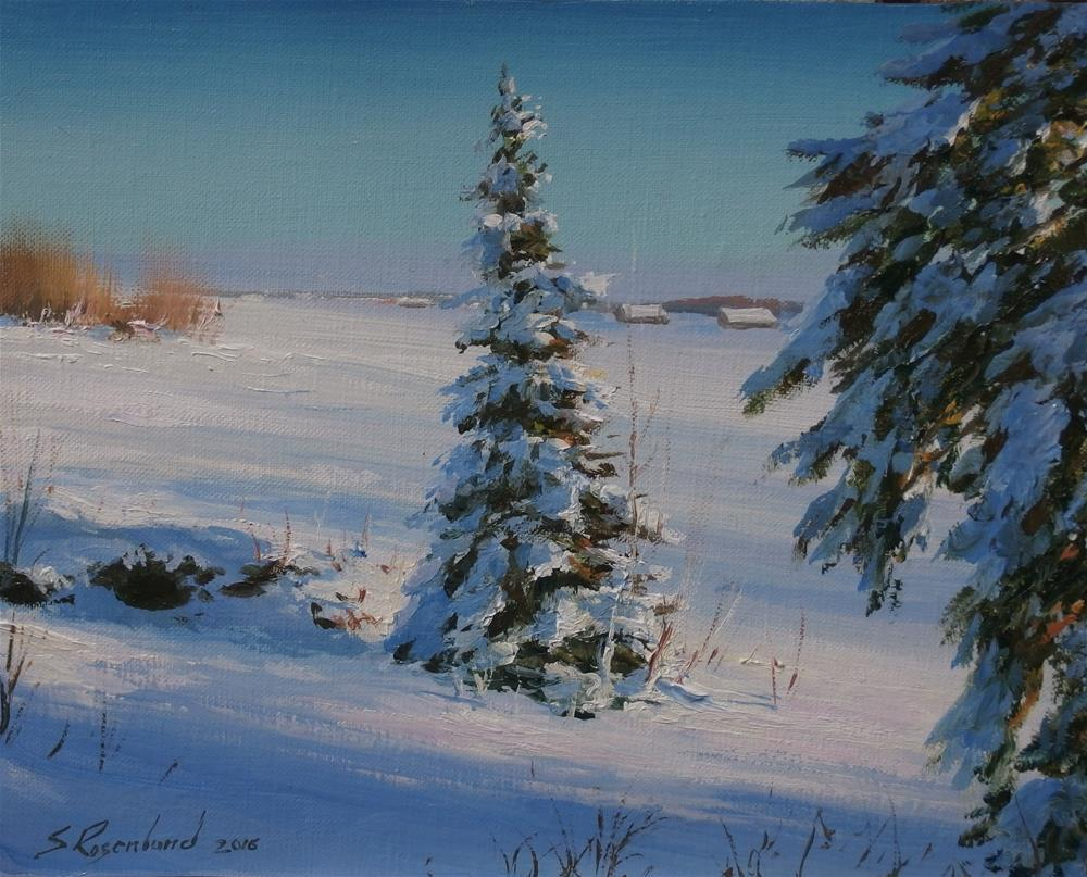 """Winter light"" original fine art by Stig Rosenlund"