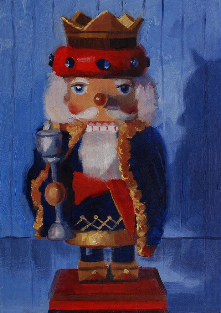 """""""Suzy's Nutcrackers No.1"""" original fine art by Susan McManamen"""