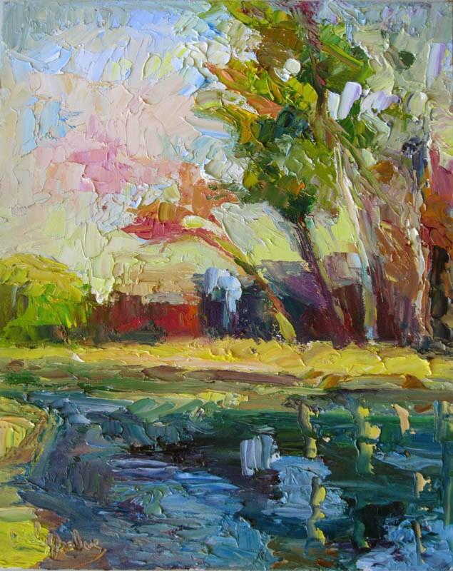 """Moran Lagoon Vertical"" original fine art by Carol Steinberg"