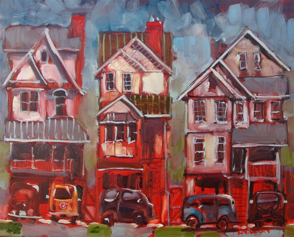 """Scarlet Town"" original fine art by Rick Nilson"