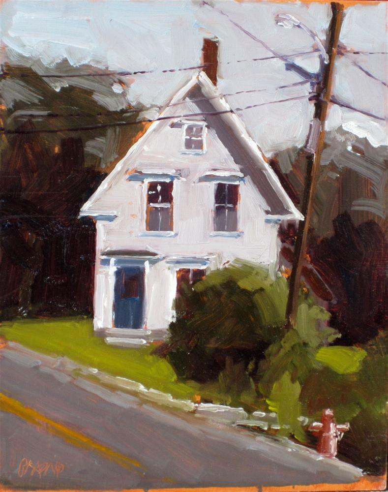 """house on a steep street"" original fine art by Dan Graziano"