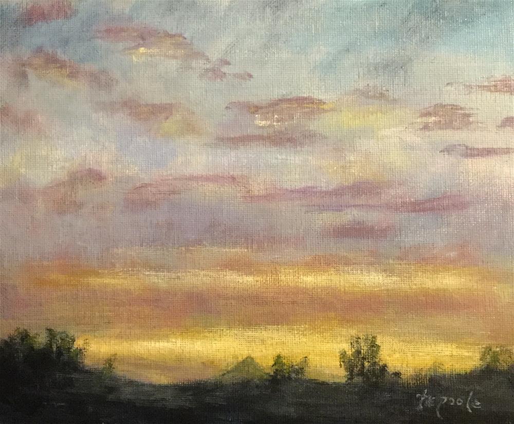 """""""Indigo Dawn"""" original fine art by T.C. Poole"""