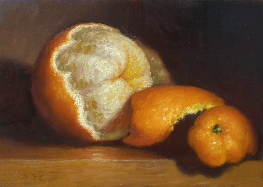"""Peeled Orange"" original fine art by Debra Becks Cooper"
