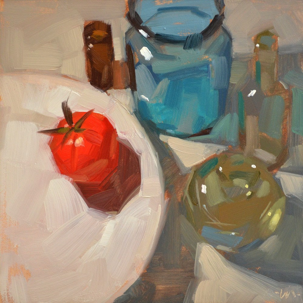 """Bottle Guardians"" original fine art by Carol Marine"