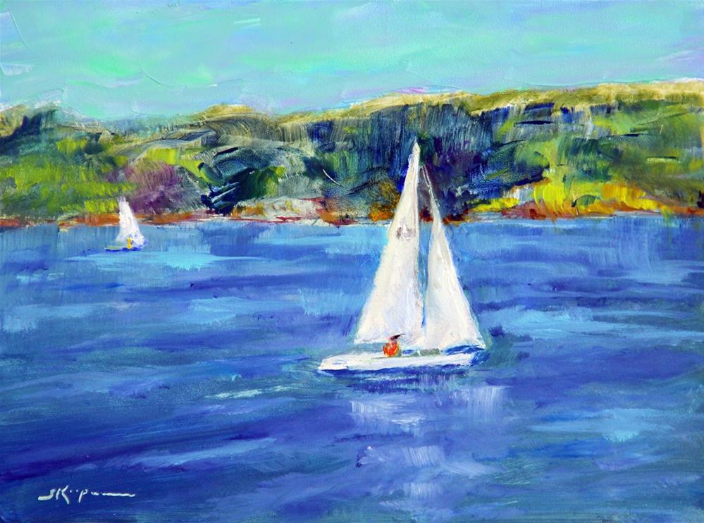 """""""Smith Mountain Lake Sailing"""" original fine art by Shelley Koopmann"""