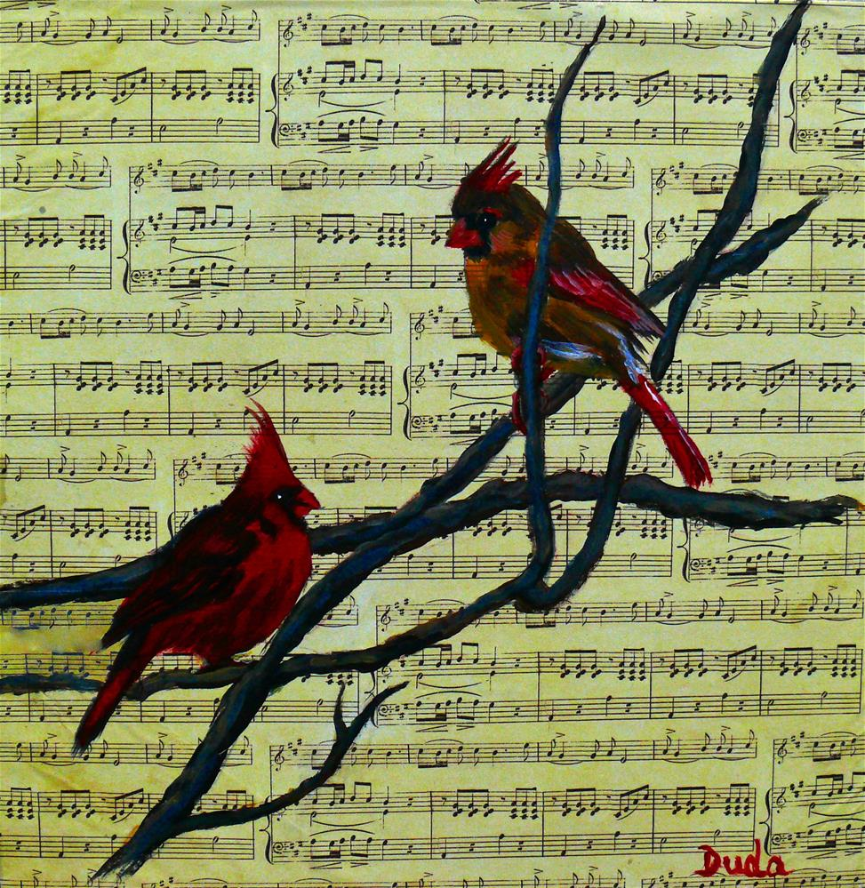"""The Duet"" original fine art by Susan Duda"
