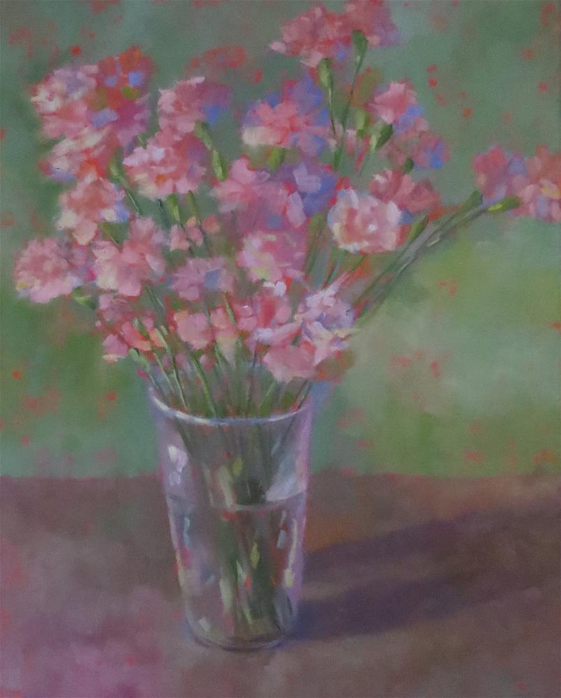 """Pink Carnations"" original fine art by Pam Holnback"