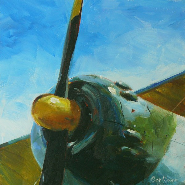 """042 Ready for take off"" original fine art by Anja Berliner"