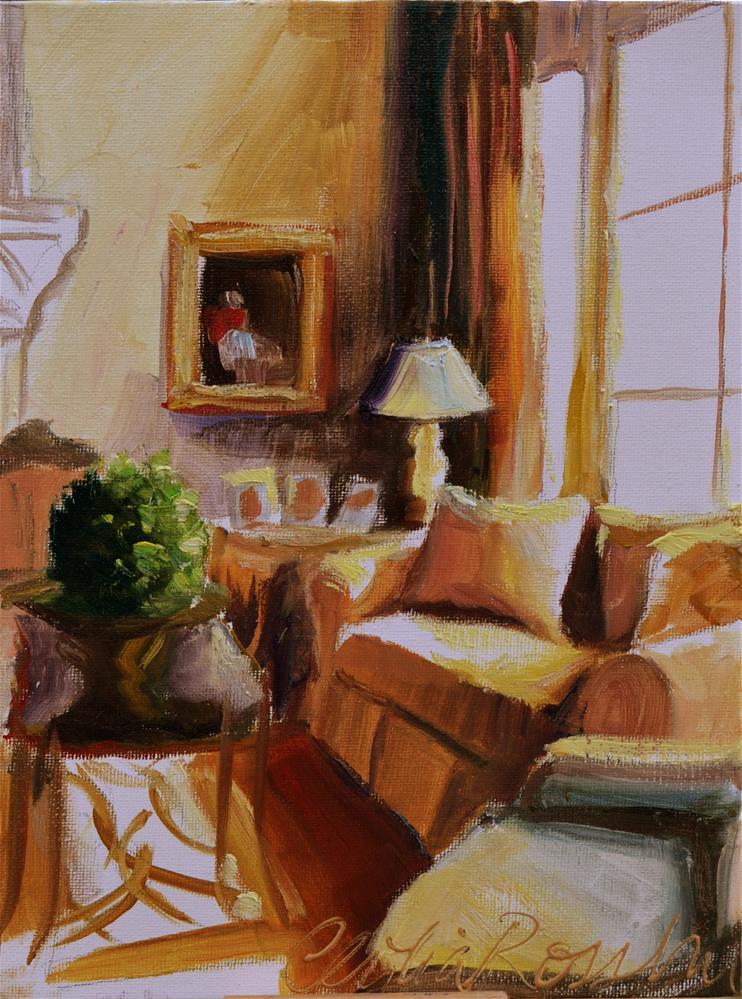 """Ensoleillé"" original fine art by Cecilia Rosslee"