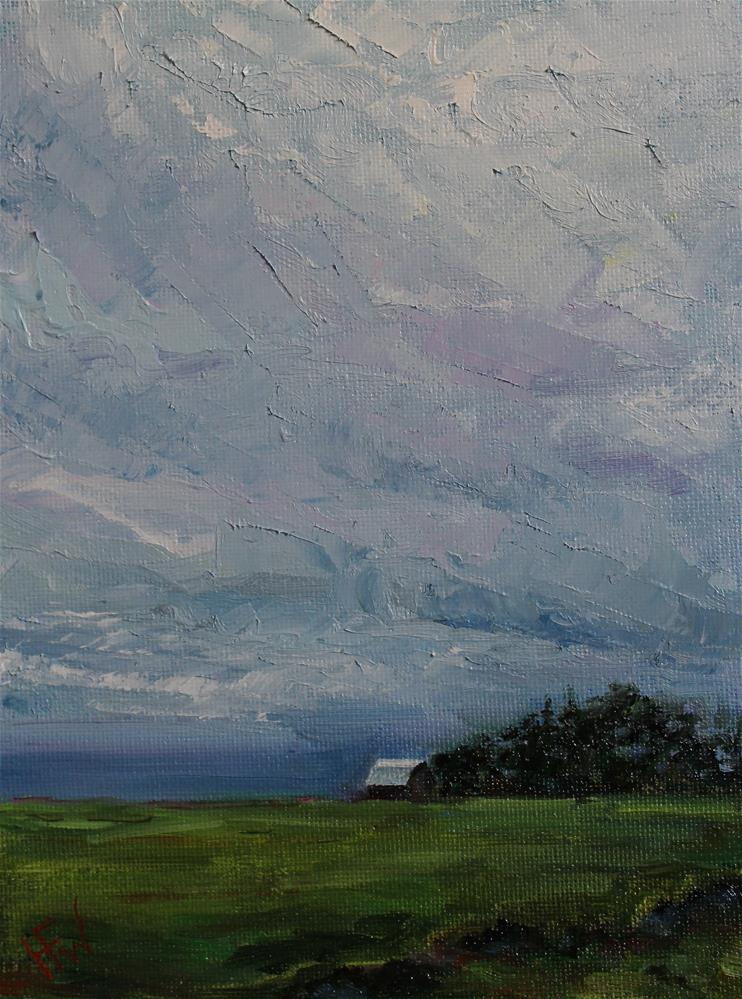 """Stormy Morning"" original fine art by H.F. Wallen"