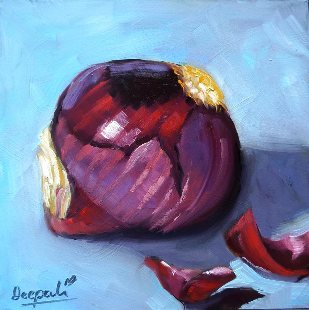 """Red onion"" original fine art by Dipali Rabadiya"