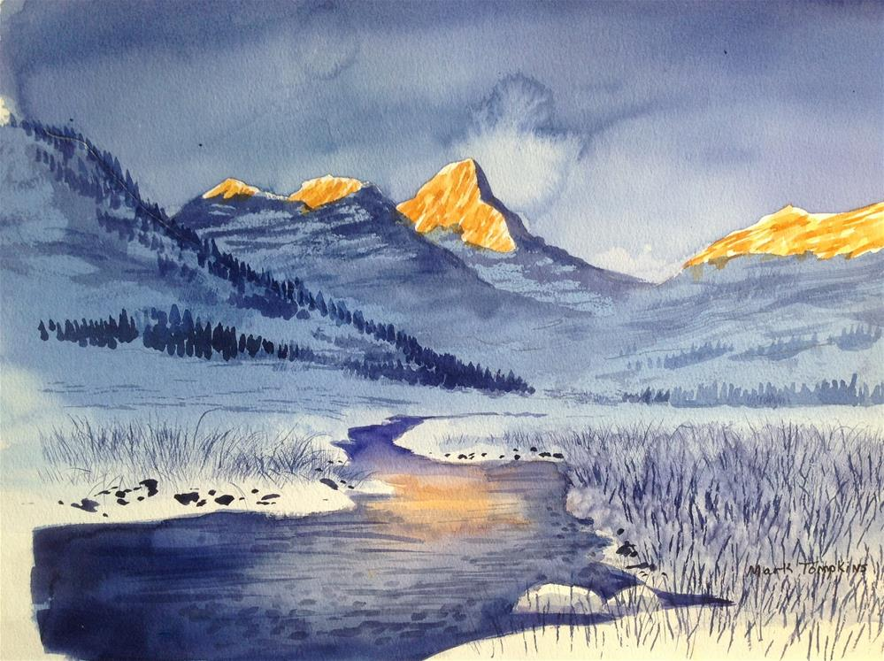 """Alpine Sunrise"" original fine art by Mark Tompkins"
