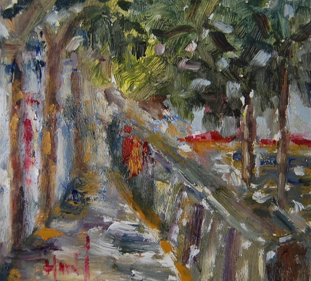 """River Seine"" original fine art by Deborah Harold"