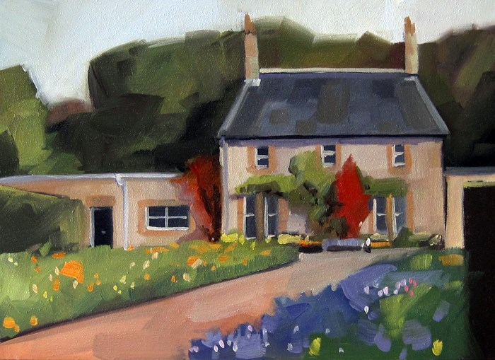 """No 800 English Garden"" original fine art by Robin J Mitchell"