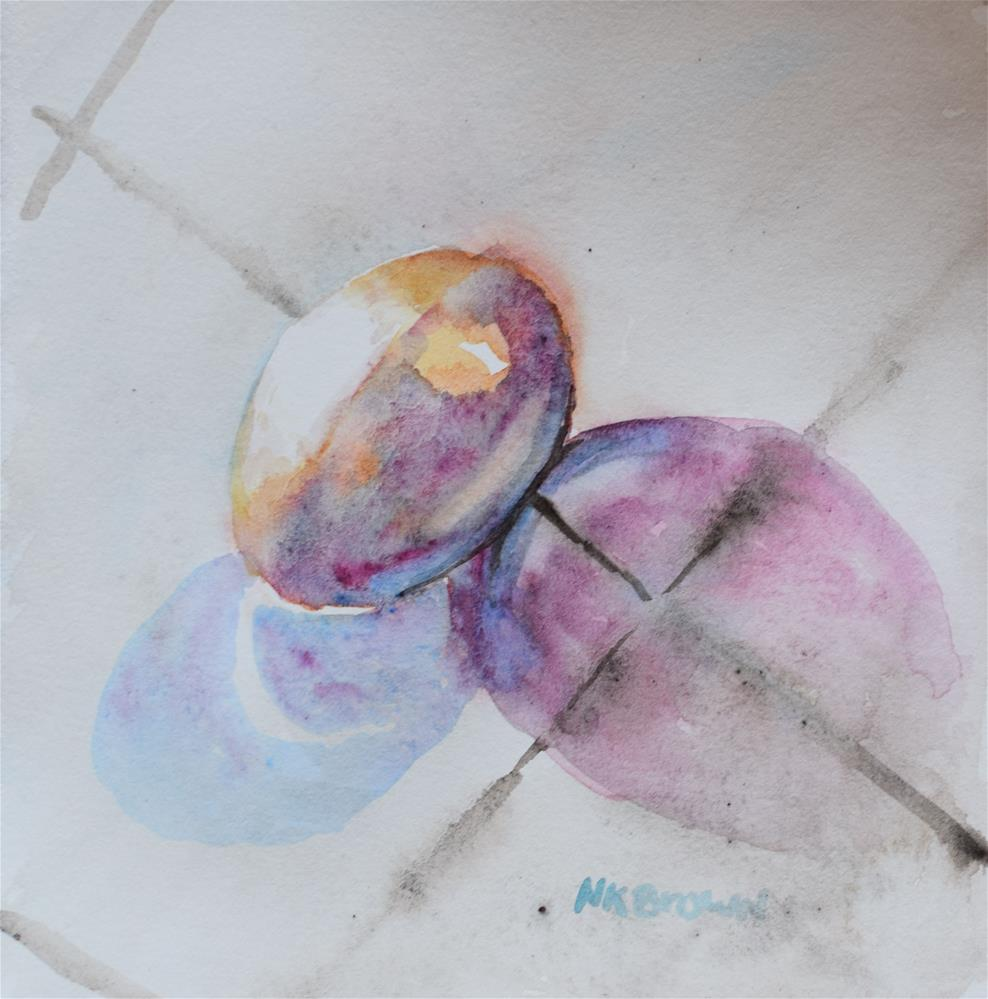 """""""The Egg Revisited"""" original fine art by Nancy Brown"""