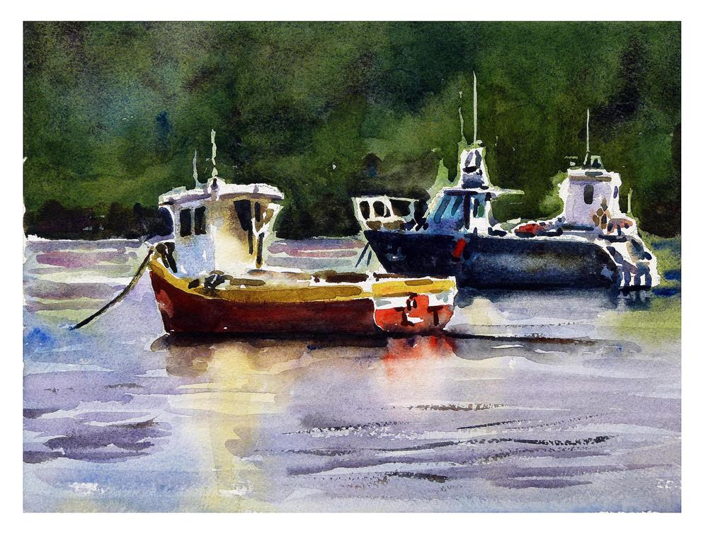 """Boats."" original fine art by Graham Berry"