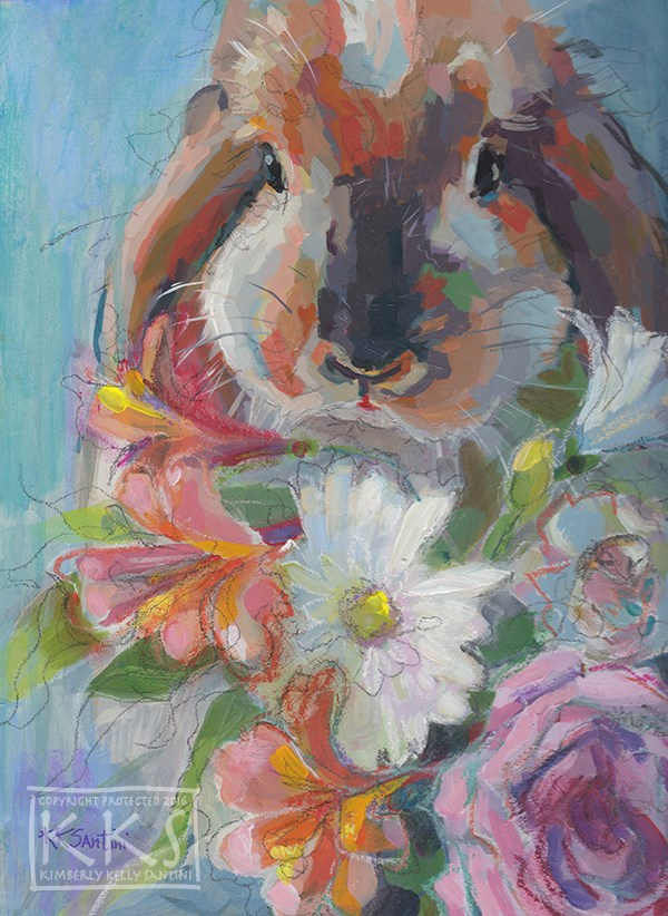 """Easter Brunch"" original fine art by Kimberly Santini"