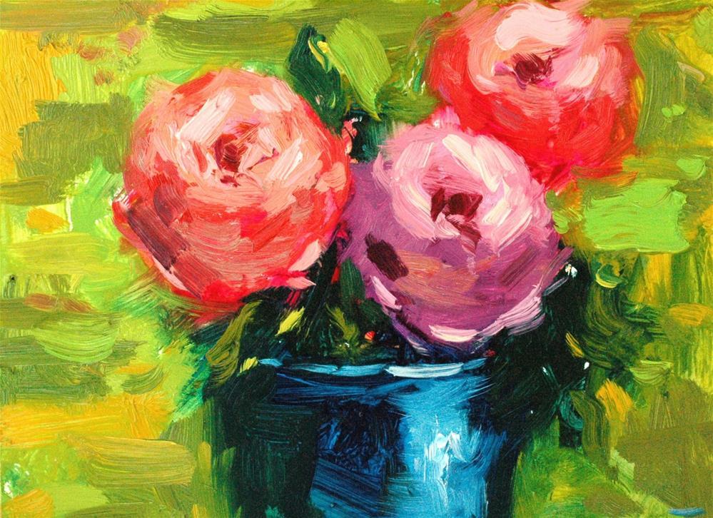 """Peony Trio"" original fine art by Michael Clark"