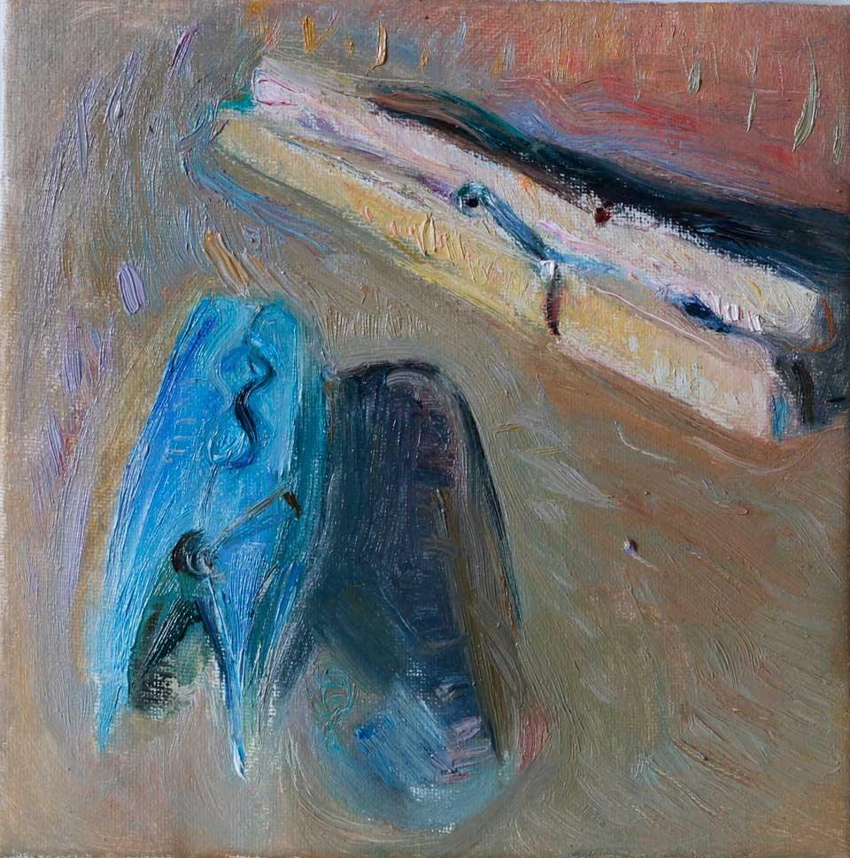 """Two Clothespins"" original fine art by Anna  Fine Art"