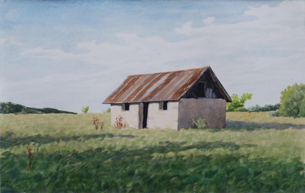 """Outbuilding near Sugarloaf"" original fine art by Greg Arens"