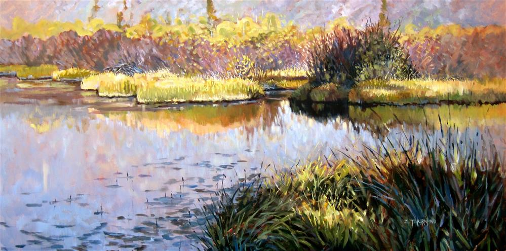 """Morning Calm"" original fine art by Zack Thurmond"
