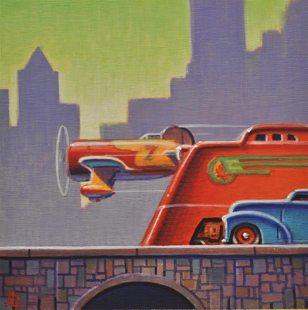 """Big City"" original fine art by Robert LaDuke"