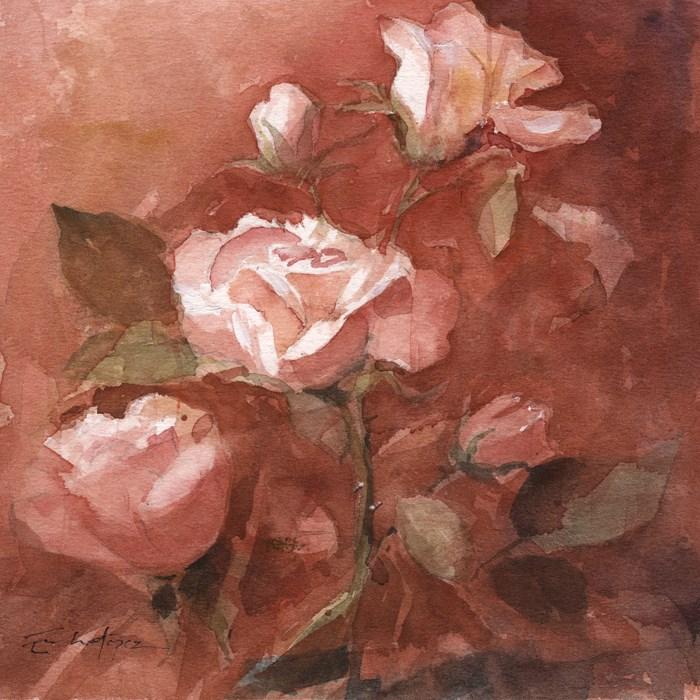 """""""Flores 39"""" original fine art by Emilio López"""