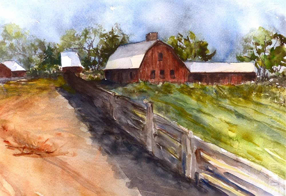 """Rural Afternoon"" original fine art by Judith Freeman Clark"